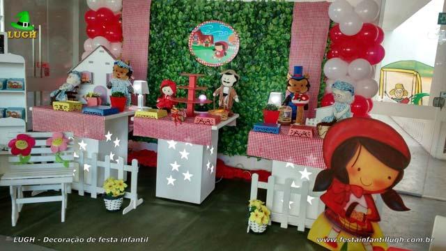 Decoração provençal - Festa infantil feminina tema Chapeuzinho Vermelho