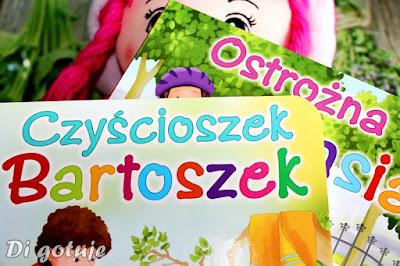 Czyścioszek Bartoszek i Ostrożna Basia - recenzja książeczek z serii Dbam o zdrowie