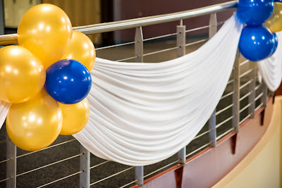 Balloon decoration drapes