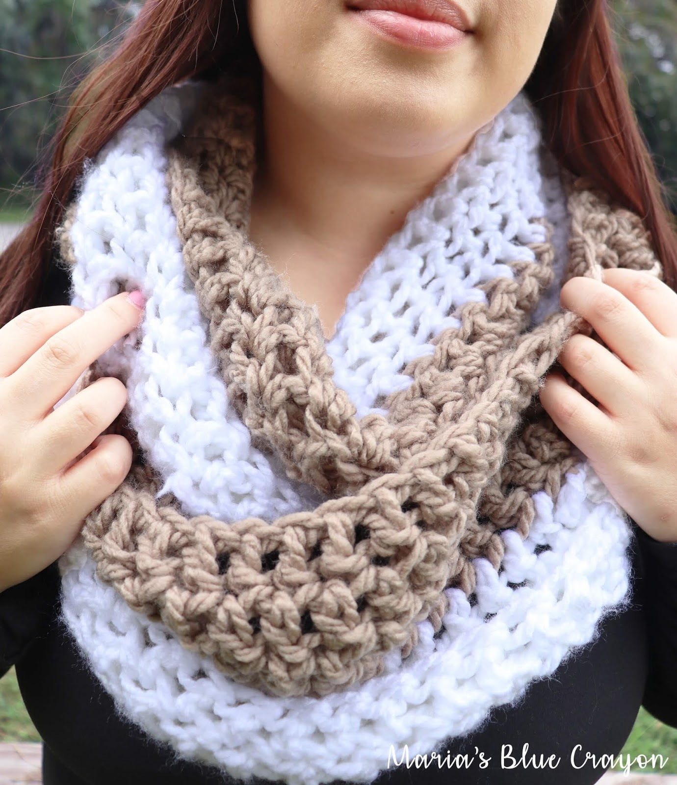 Free Crochet Chunky Infinity Scarf Pattern Maria S Blue Crayon