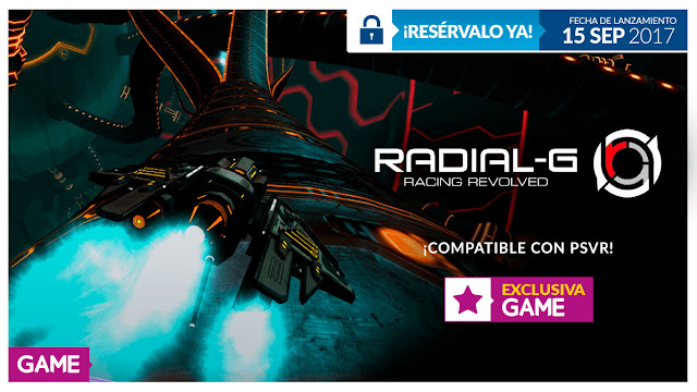 Radial-G llegará en exclusiva a GAME, ¡corriendo al futuro!
