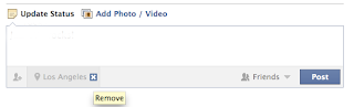 remove fb location in status