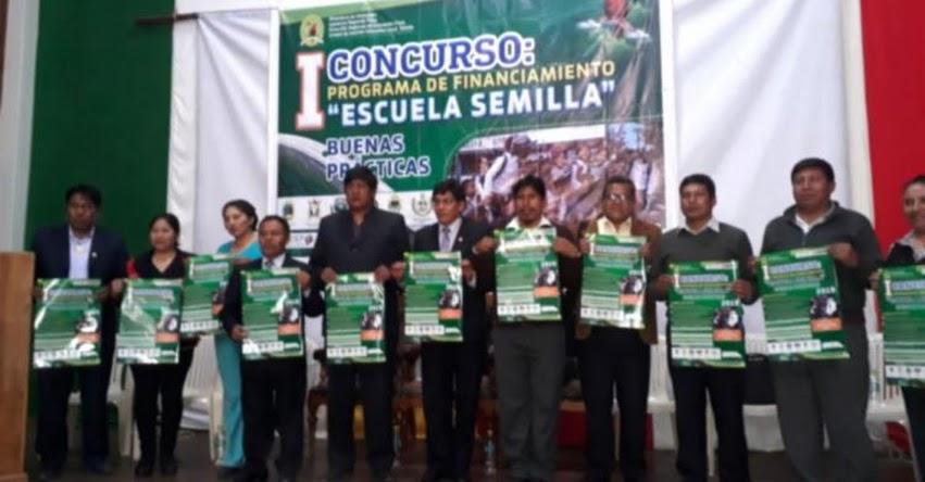 UGEL Sandia lanza el I Concurso del Programa de Financiamiento de Escuela Semilla - Puno