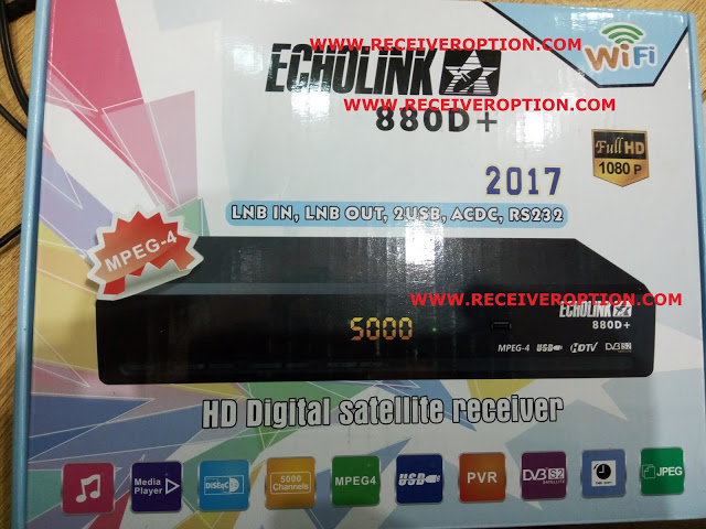 ECHOLINK 880D+ HD RECEIVER AUTO ROLL POWERVU KEY NEW SOFTWARE