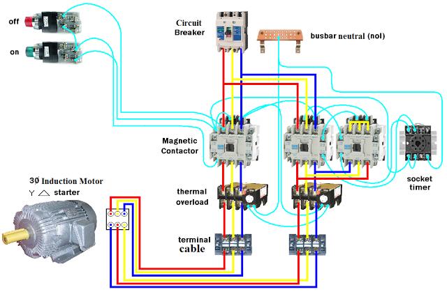 d o l starter motor wiring diagram (star delta) electricald o l starter motor wiring diagram (star delta)