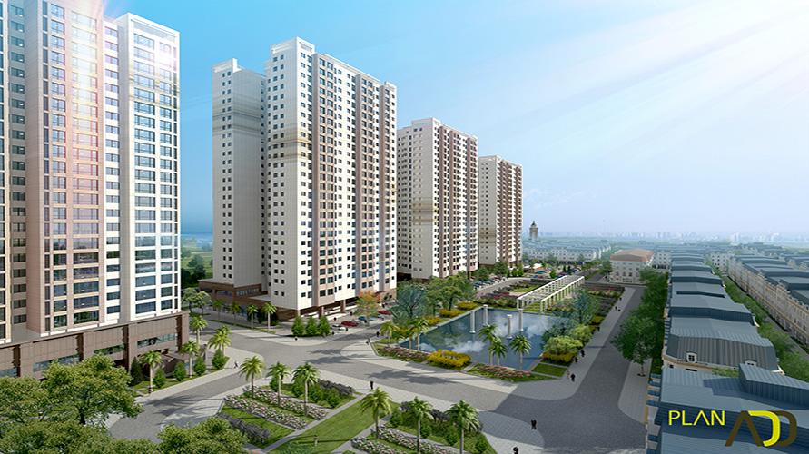 Cảnh quan chung cư The K Park Văn Phú