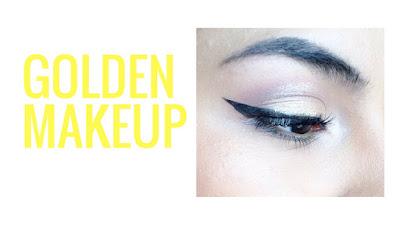 Maquillaje dorado fácil cover