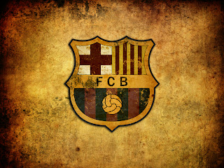 FC Barcelona Logo Design on Old Texture HD Wallpaper