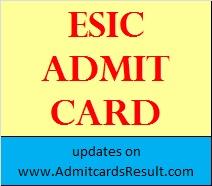 ESIC JE Admit card