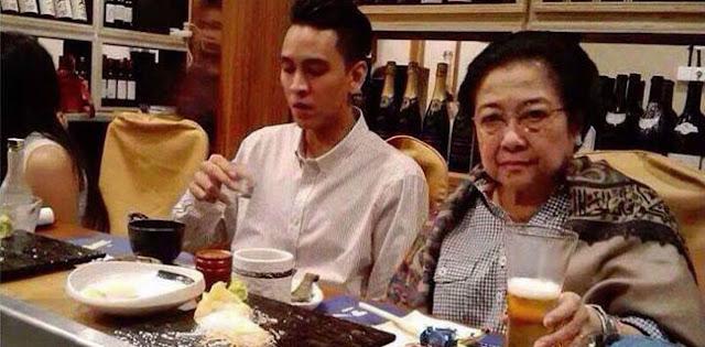 Megawati Lagi Minum Bir Bersama Brondong?
