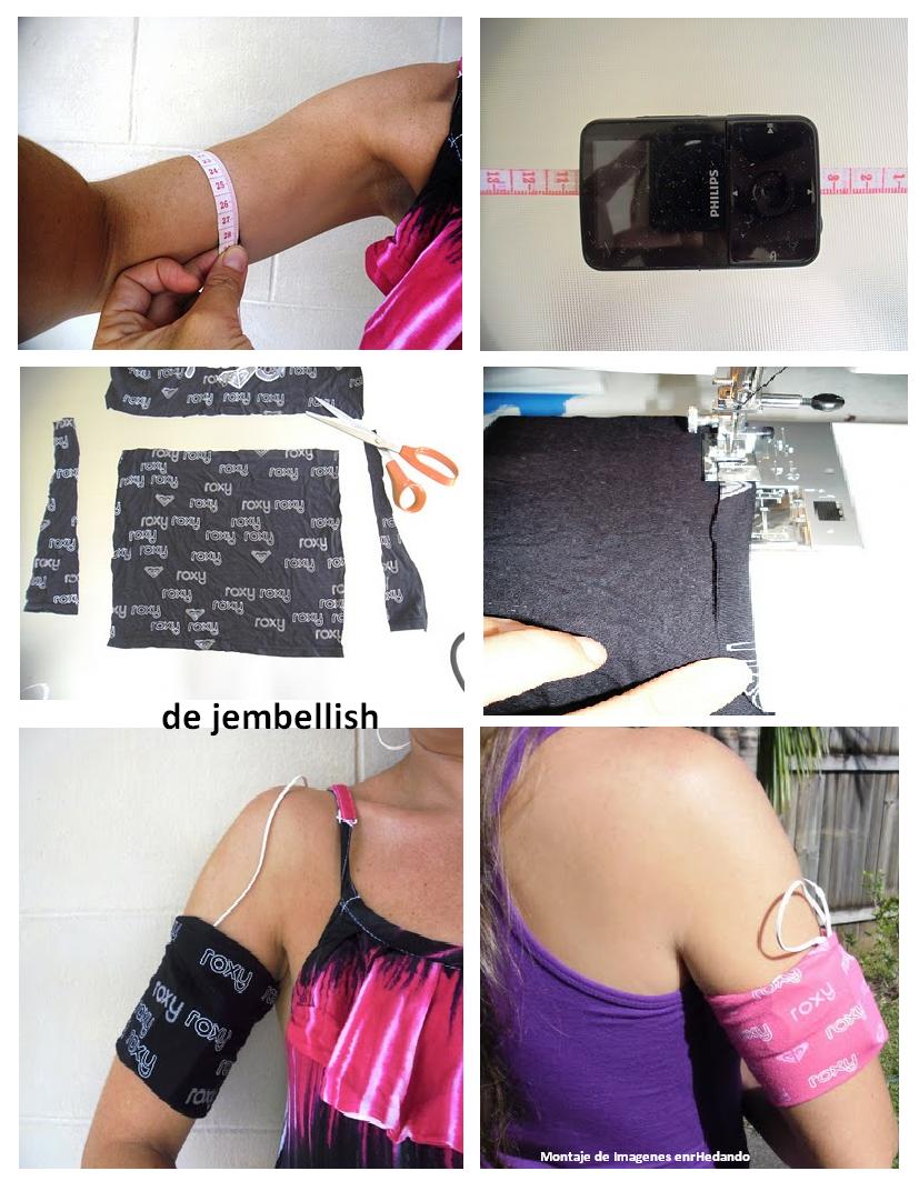 bolso, ante brazo, música, Ipod, Mp4, colgar, accesorios, labores