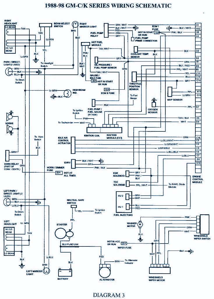 1998 Chevrolet Suburban 1500 Wirng Diagram | Auto Wiring