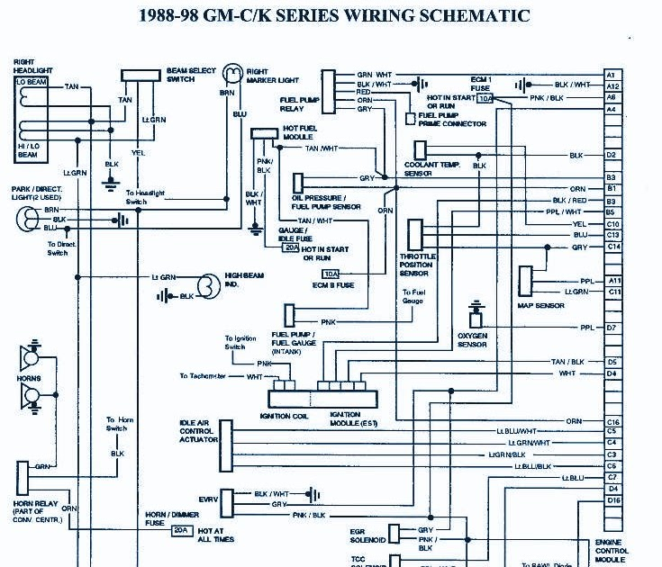 Wiring panel: 1998 Chevrolet Suburban 1500 Wirng Diagram