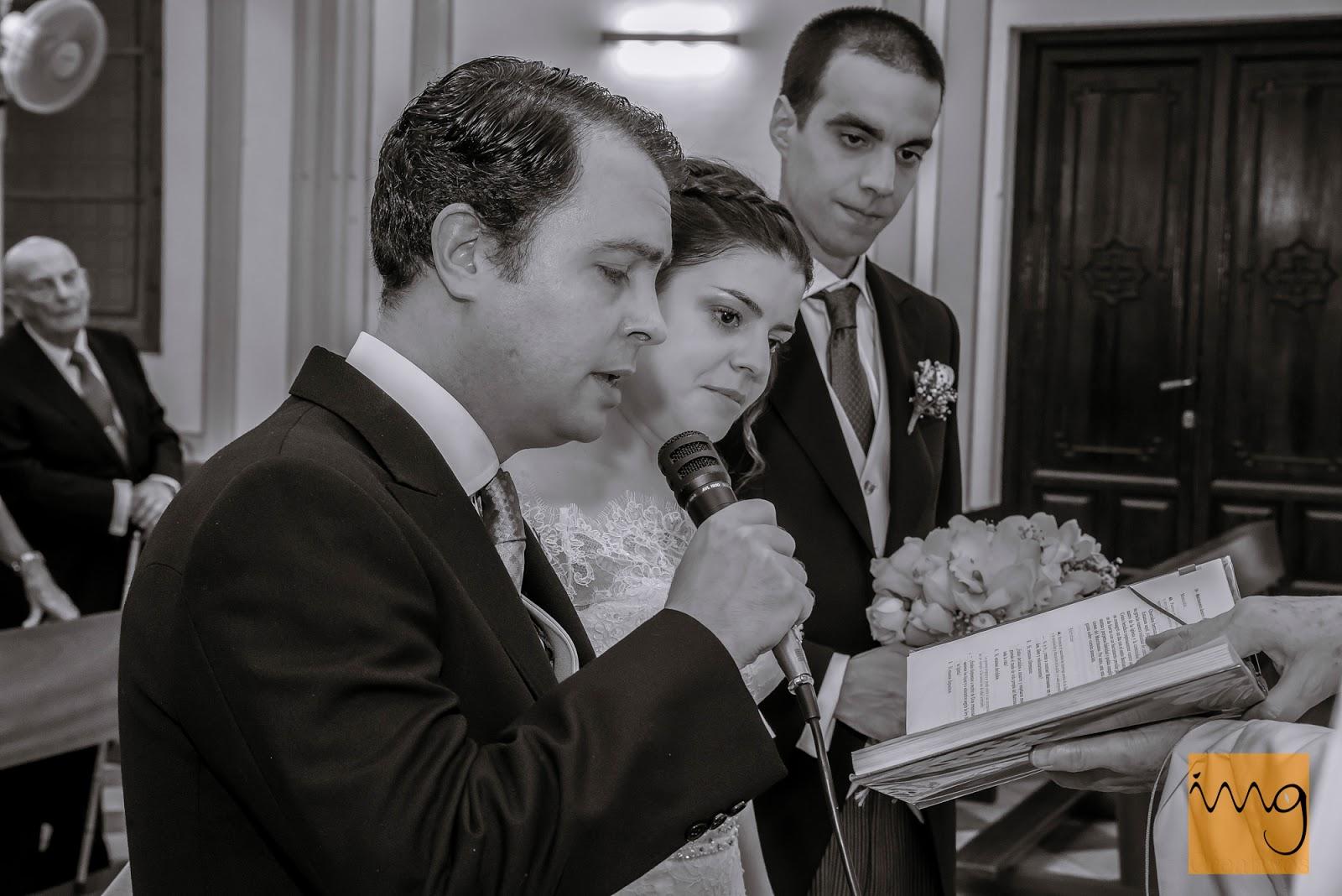 Fotografía de boda, los votos.