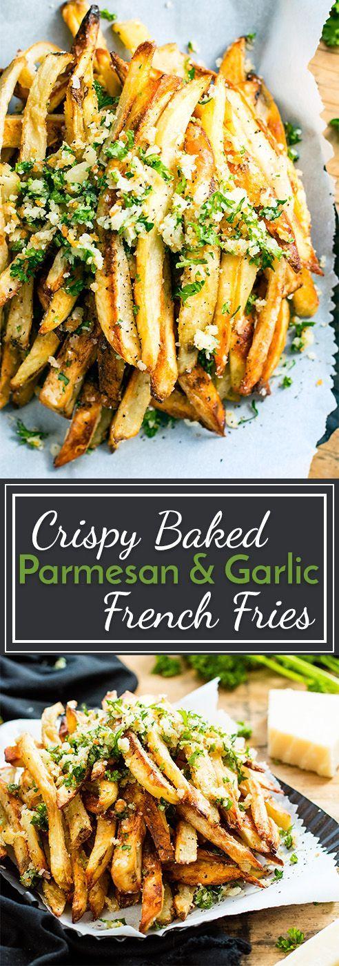 Crispy Baked Parmesan Garlic Fries