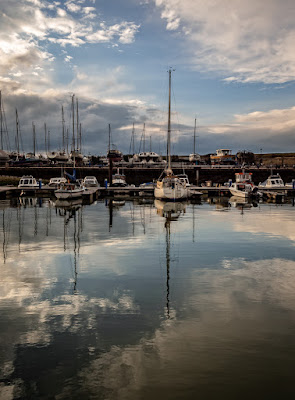 Photo of a calm period at Maryport Marina on Wednesday