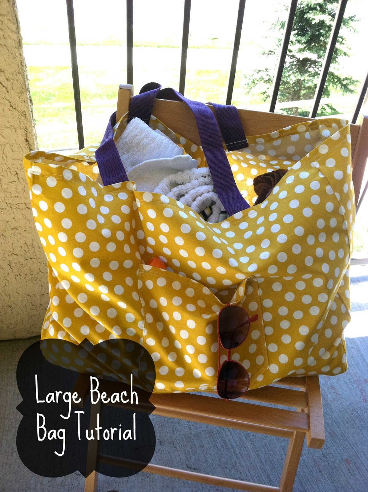 Large Beach Bag Tote Tutorial