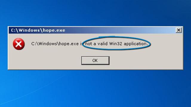 loi not valid win32 application 2 Facebook ninja – Error: %1 is not a valid Win32 application