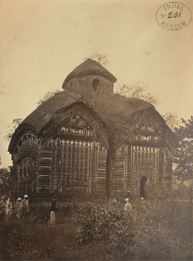 Jorebangla Temple of Keshta Rai in Bishnupur, Bankura District, Bengal - 1869