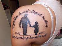 tatuaje para papá en blanco y negro