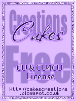 Cake's Creations CU and CU4CU License