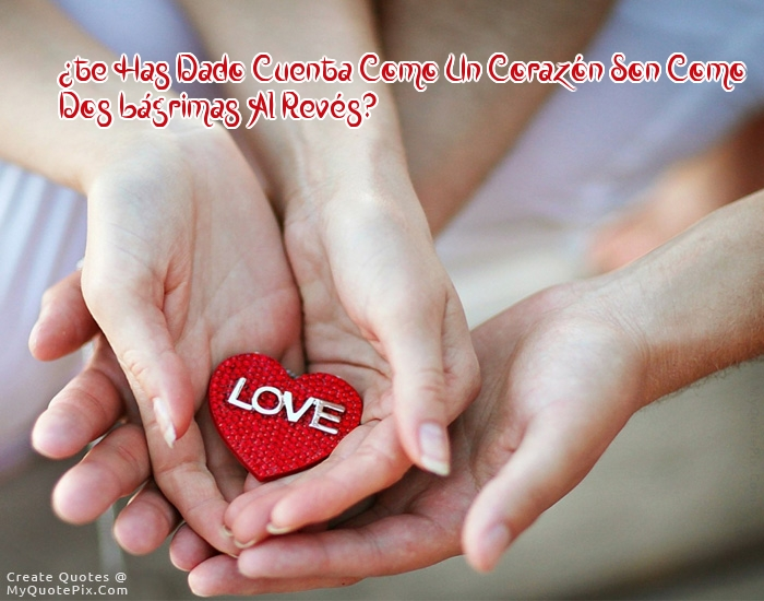 un corazón son dos lagrimos