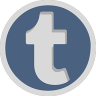 tumblr button outline
