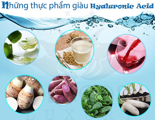 Những thực phẩm giàu  Axit Hyaluronic