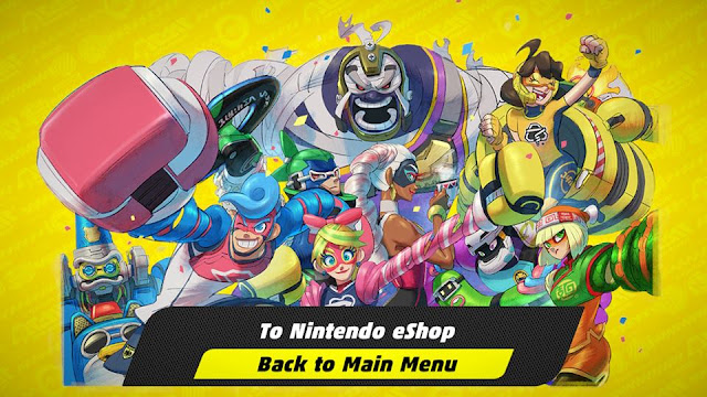 ARMS demo end screen game over back to main menu To Nintendo eShop Switch