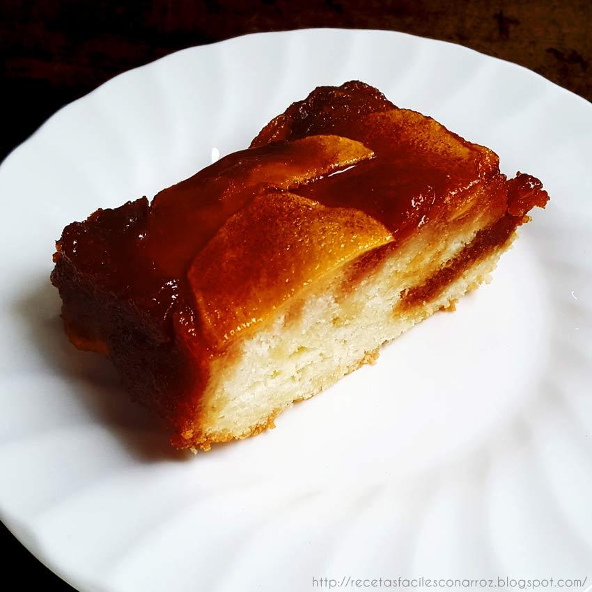 receta torta invertida manzana