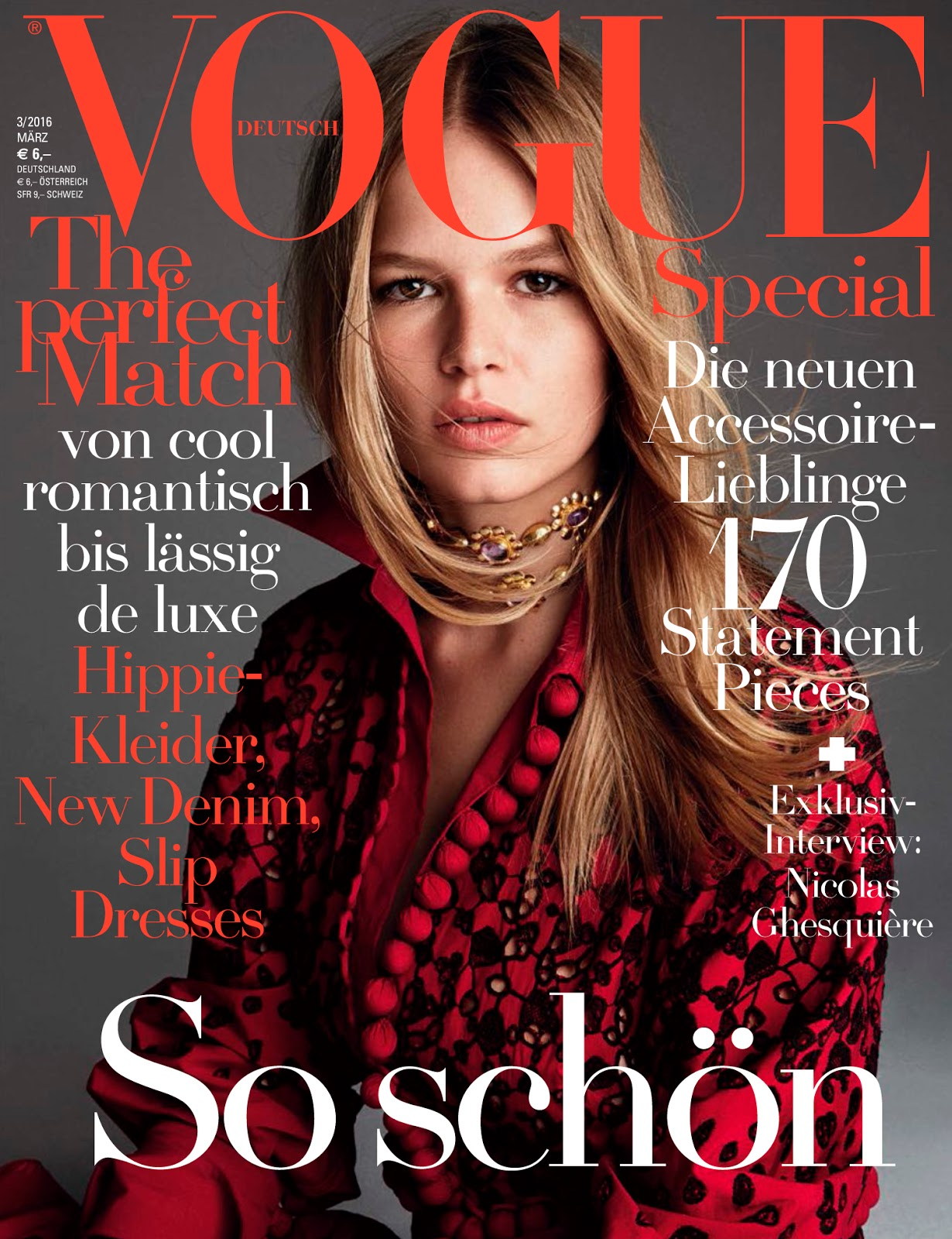 anna ewers vogue germany march demarchelier patrick magazine covers issue paris kate models bock ph management