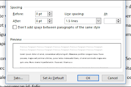 Cara Mengontrol Jarak Spasi dan Paragraf di Microsoft Word / Office