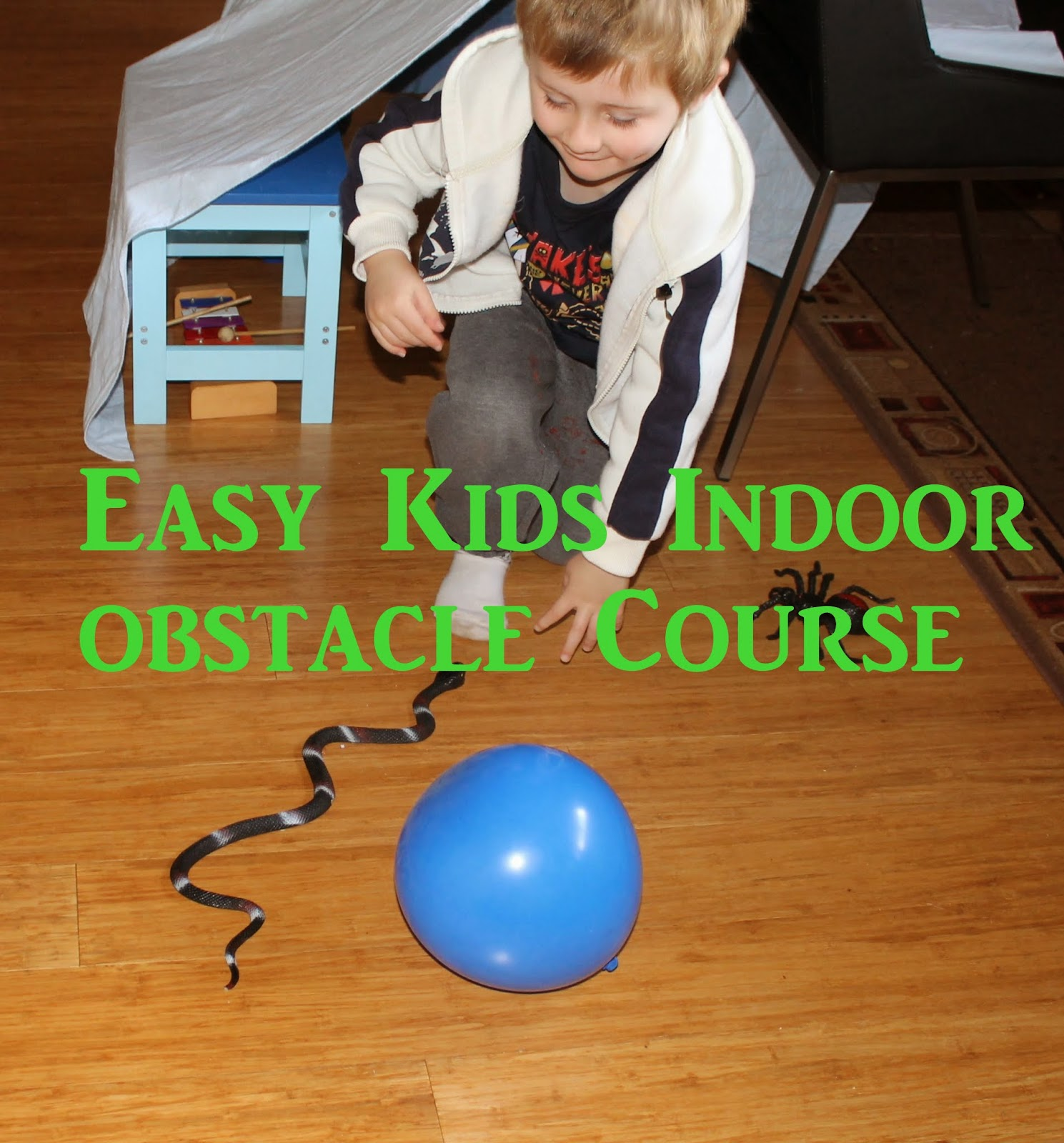 Adventures At Home With Mum: Easy Kids Indoor Obstacle Course