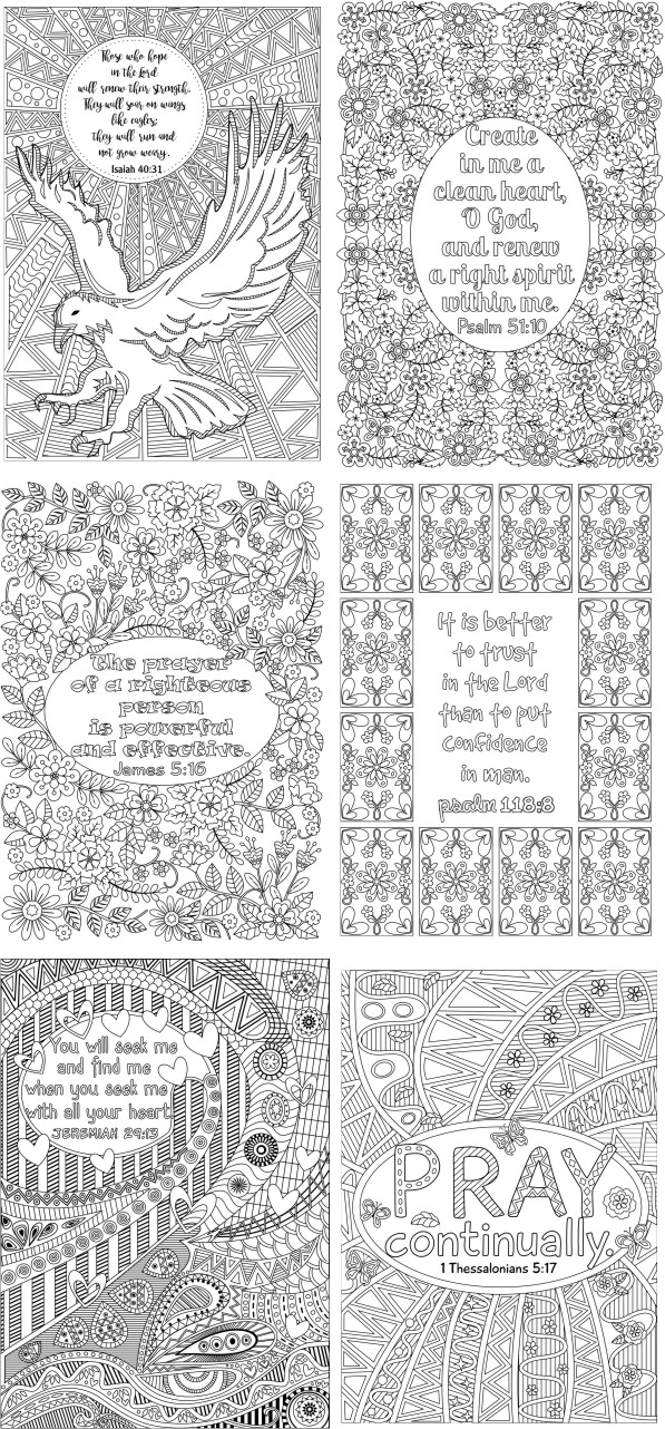 art therapy scripture coloring pages