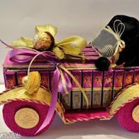 Машинка из конфет - мастер-класс