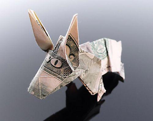 Fresh Pics: Beautiful Dollar Origami Art By Craig Sonnenfeld | 397x500