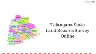 Telangana State Land Records Survey Online