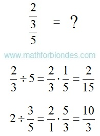 The numerator and denominator. Mathematics For Blondes.