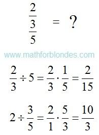 The numerator and denominator. Mathematics For Blondes.