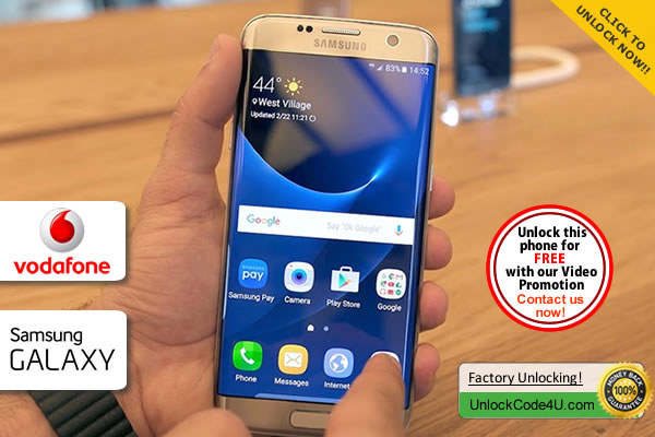 Factory Unlock Code Samsung Galaxy S7 Edge from Vodafone