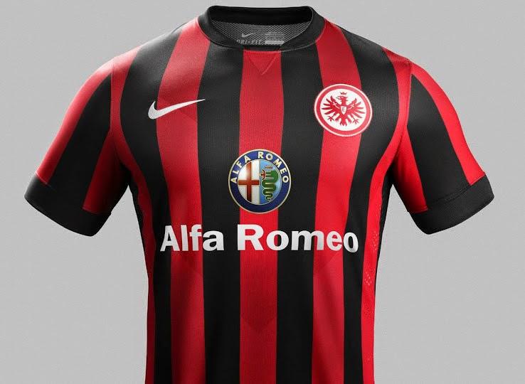 Liberación de hoy  confirma nuestra fuga anterior de las nuevas camisetas  de futbol Eintracht Frankfurt 2014-2015 Kits e64db07e08d2a