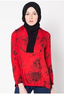 Model Batik Muslim Kerja Terkini