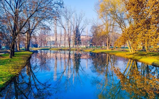 Bild des Tages - Herbst im Stadtpark Skopje