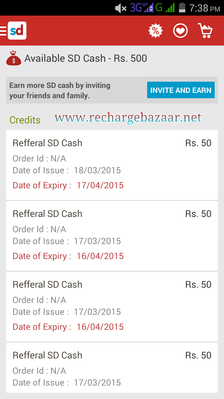 UPDATE : Snapdeal Refer and Earn Rs50 joining bonus + Rs50/refer (PROOF)