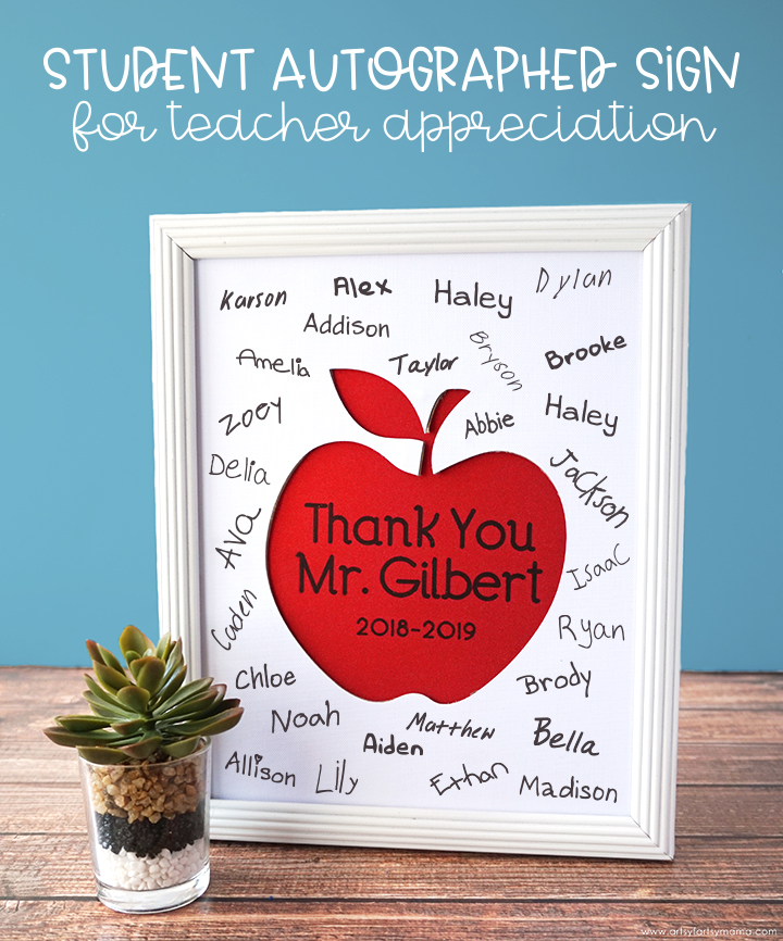 Student Autographed Sign for Teacher Appreciation