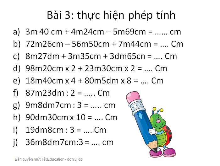 Bài tập đổi đơn vị đo độ dài - Toán lớp 5(9)