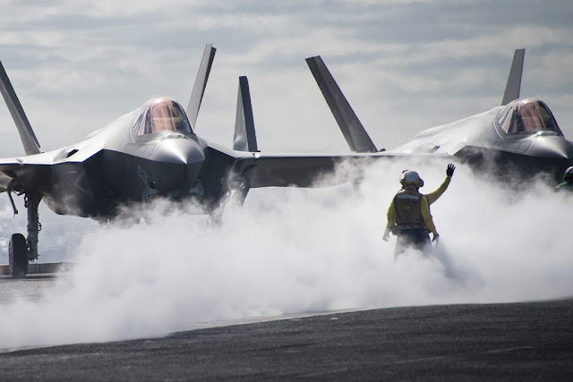 US NAVY: ARGONAUTS COMPLETE FINAL STEP TO TRANSIT FROM SUPER HORNET TO F-35C
