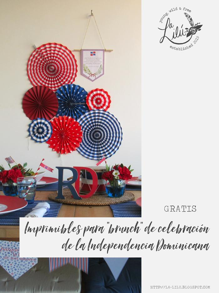 27 de febrero, Quisqueya, manualidades, hazlo tú mismo, fiesta, celebración, brunch, bandera dominicana, guirnalda, decoración, mesa
