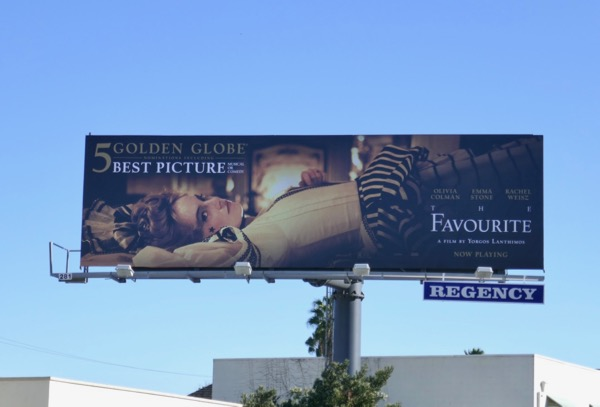 Favourite 5 Golden Globes billboard