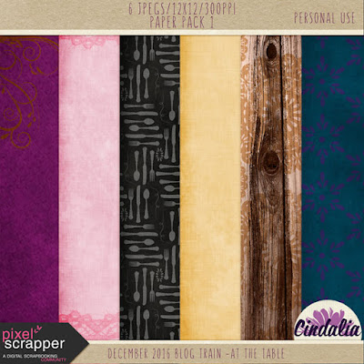 Pixel Scrapper, Digital Scrapbooking, December, 2016, blog train, free digital papers